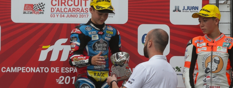 J.Juan equipa las tres motos del podio de PreMoto3