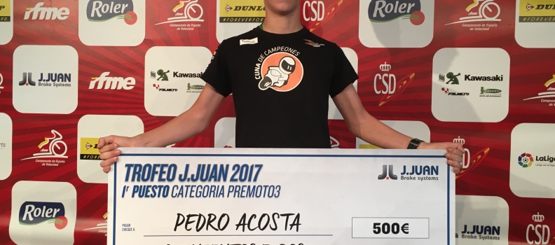 Pedro Acosta, campeón del Trofeo J.Juan 2017