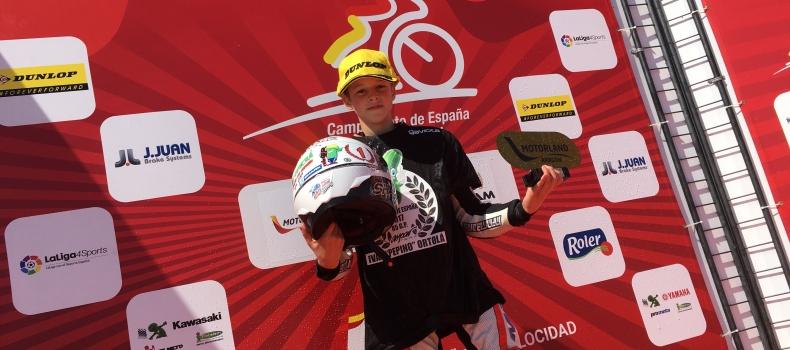 Iván Ortolà se corona en Motorland con el título de 85GP